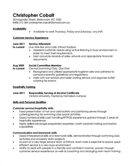 Work Resume Template by 10 Work Resume Templates Pdf Doc Free Premium