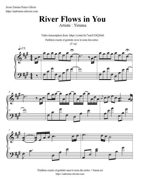tutorial piano yiruma river flows in you https narbonne claviers com yiruma river flows in you