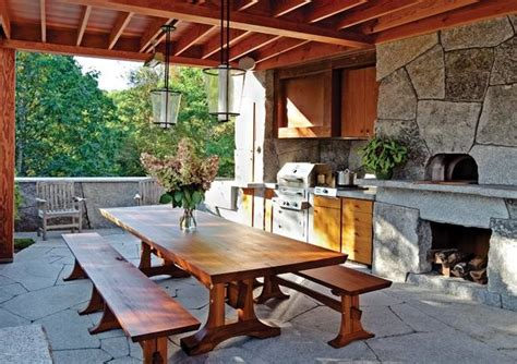 Rustic Outdoor Kitchen in Camden, Maine   Contemporary