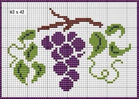 cenefas de uvas en punto de cruz uvas punto de cruz bello punto de cruz punto de