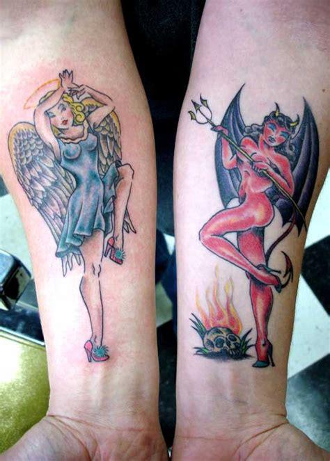 tattoo angel devil girl angel devil pin up girl tattoo designs sex porn images
