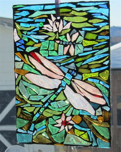 dragonfly stained glass l dragonfly stained glass mosaic wall art panel window