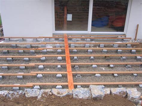 terrasse unterbau terrasse holz unterbau unterkonstruktion terrasse holz