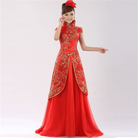 hochzeitskleid china chinese traditional qipao and qungua bridal dresses