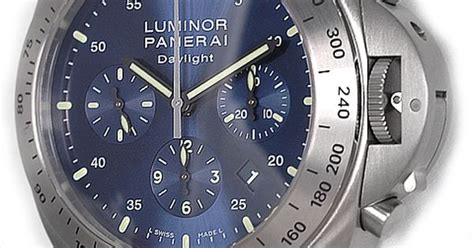 Panerai Daylight Silver Numb Brown Leather titanium panerai daylight chronograph with special blue panerai watches panerai watches