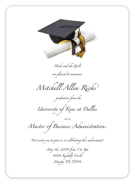graduation announcement templates free printable graduation invitation templates 2013 2017