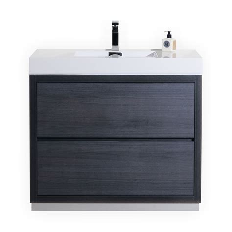 bathroom vanity 40 bliss 40 quot gray oak floor mount modern bathroom vanity