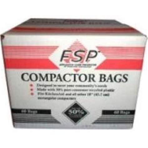 whirlpool 15 inch trash compactor bags 60 pk kitchenaid fsp kenmore sears jenn ebay