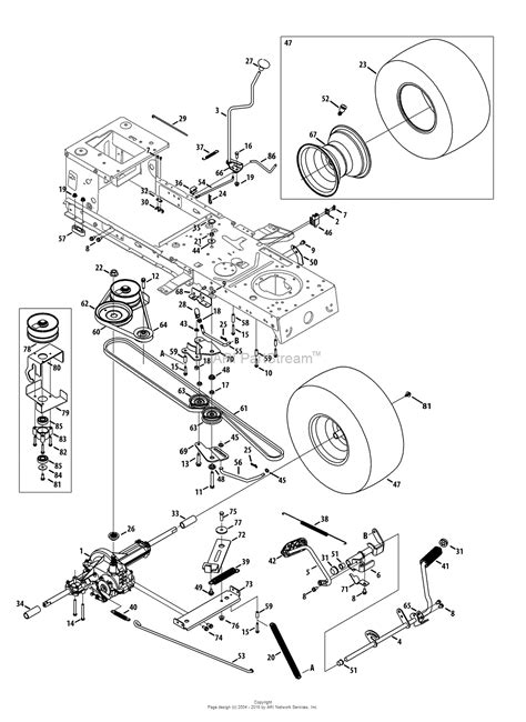 craftsman lt2000 parts diagram mtd 13bl78st099 247 288853 lt2000 2013 parts diagram