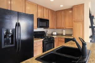 black appliances kitchen ideas pictures of kitchens traditional light wood kitchen cabinets kitchen 147