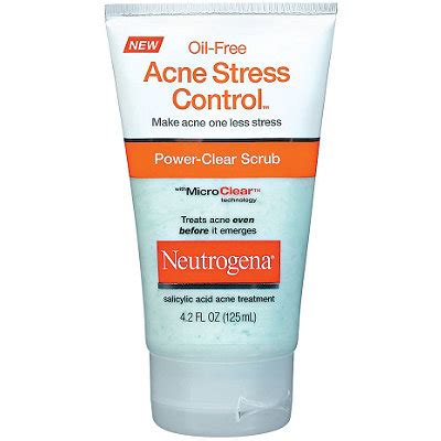 Acne Cleanser Scrub Beta Plus free acne stress power clear scrub