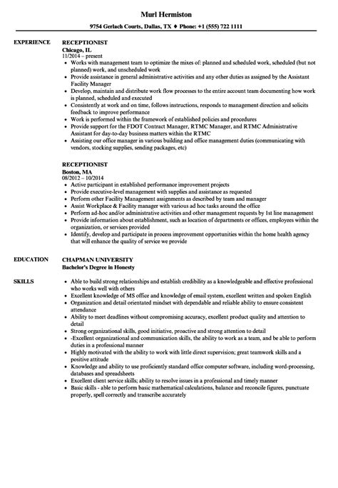 office receptionist sample resume unforgettable receptionist