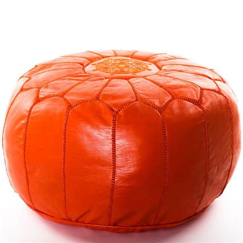 orange pouf ottoman 17 best images about orange on pinterest moroccan