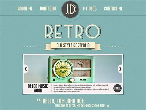 vintage home decor websites 26 beautiful retro website templates web graphic