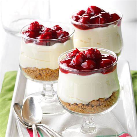 dissert food cherry cheese dessert recipe taste of home