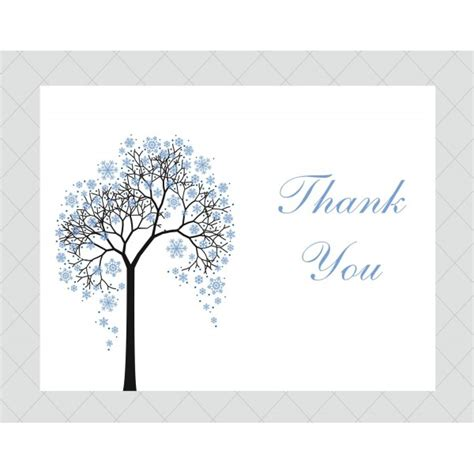 winter tree thank you cards style 498 whimsicalprints