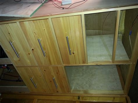 Self Build Wardrobes by Replacing The Wardrobe In Motorhome With Drawers