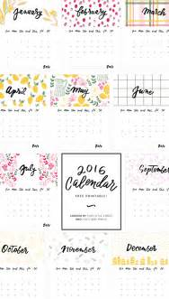 Calendar Printable 2016 2016 Calendar Free Printable This