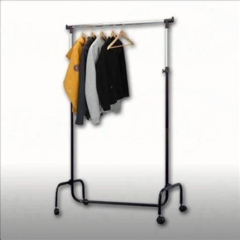 Coat Rack Height by Xl Coat Hanger Height Adjustable Clothes Rack Black Free Shipping Ebay