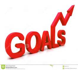 goals word shows objectives and future stock