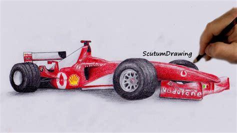 car ferrari drawing ferrari f2004 speed drawing how to draw how to draw