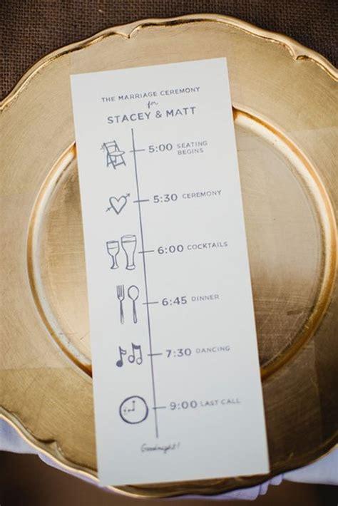 Wedding Ceremony Schedule by Wedding Ceremony Program Ideas Day Of Timelines Wedding