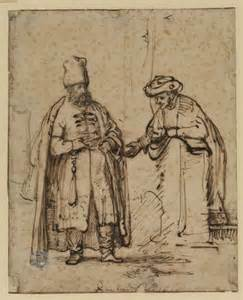 Two men in discussion one in oriental dress 1641