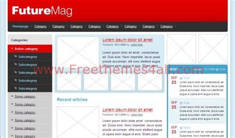 free blank website templates free css html future mag blue template freethemes4all