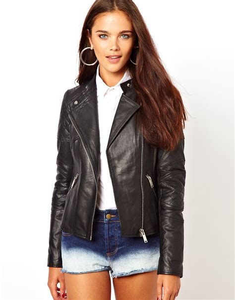 River Island Leather Cropped Jacket by My Journey To Find My Leather Jacket Joyce De