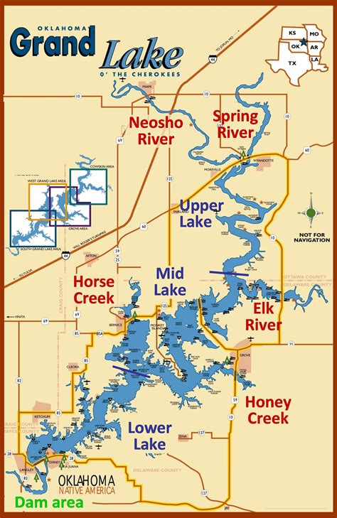 map of grand map of grand lake anglingauthority