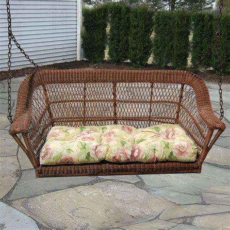 North Cape Manchester Resin Wicker Porch Swing Antique
