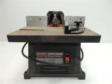 bench router craftsman bench top shaper router