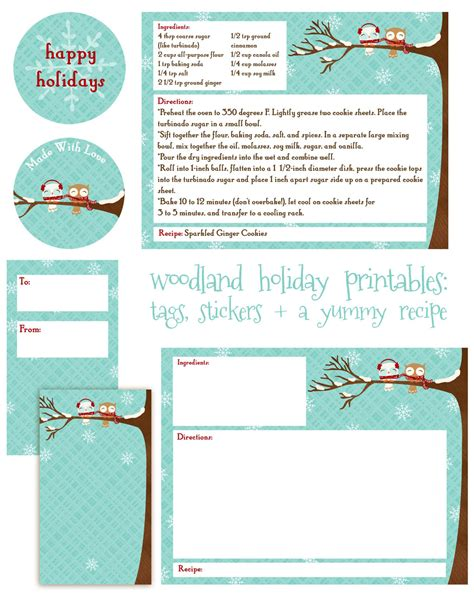Free Cookie Recipe Card Template by Cultivating A Tradition Of Giving A Gift For You Oh My