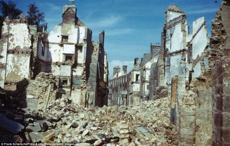 the destruction of european the ruins of normandy unpublished color photos taken in northern france in 1944 show the