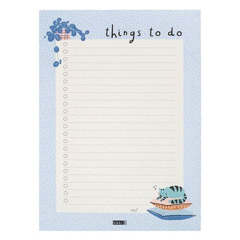 A5 To Do List Pad: Sweet   Lists & Planner Pads   kikki.K