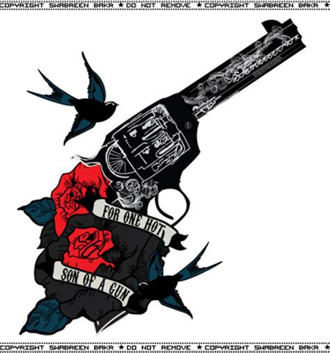 guns and roses tattoo designs roses n gun inspired design for a s