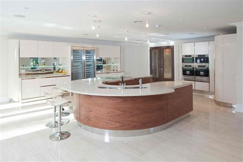 curved kitchen designs 20 beautiful curved kitchen bars home design lover