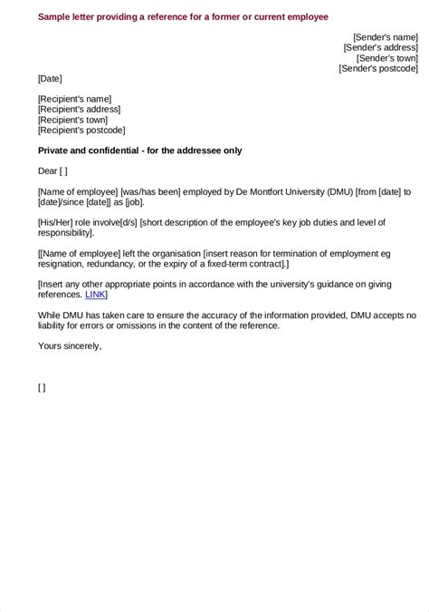 9 Employee Reference Letter Exles Sles In Pdf Letter Of Recommendation Template From Employer