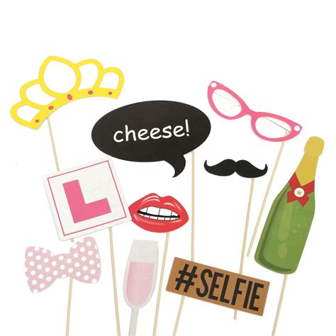 Props Decoration by 10pcs Photo Booth Wedding Props Mustache Mask Props