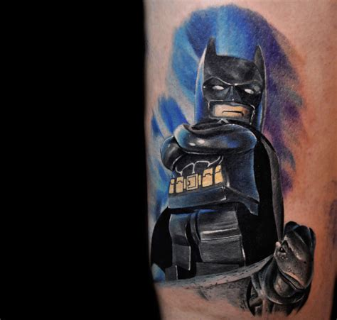 batman tattoo scene lego minifigure tattoos and more by max pniewski scene360