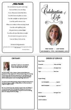 Everything You Need To Know About Creating A Funeral Program Traditional Program Template And Free Celebration Of Program Template