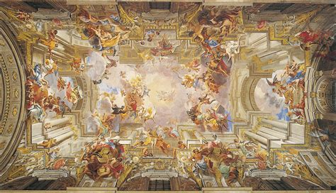 Who Began The Tradition Of Illusionistic Ceiling Painting by Surface Fragments Andrea Pozzo Anamorphism And