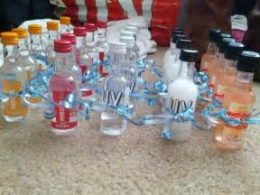 25th birthday favors a variety of flavored vodkas
