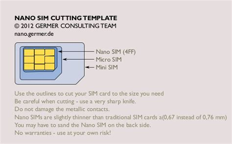 Cut Down Sim Card To Micro Sim Template
