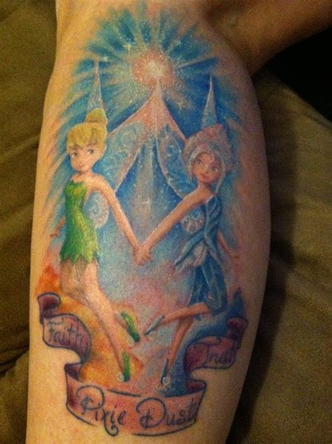 periwinkle and tinkerbell tattoo done by sonya grenell of