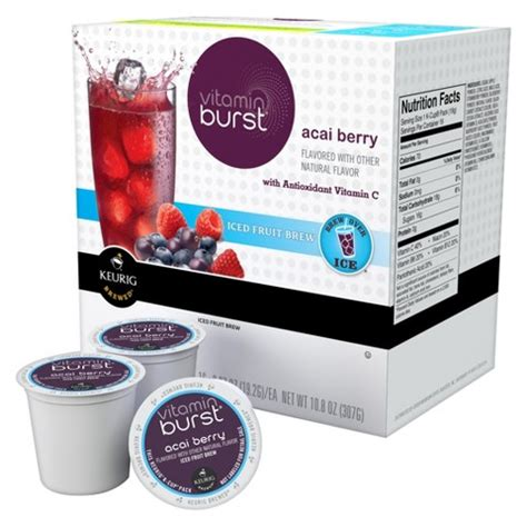 fruity k cups keurig 174 vitamin burst 174 acai berry iced fruit bre target