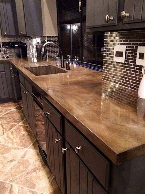 Cement Kitchen Countertop by 25 Best Ideas About Concrete Countertops On Stained Concrete Countertops Cement