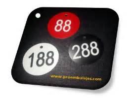 fichas numeradas guardarropa pro embalajes articulos para embalar marcar y etiquetar