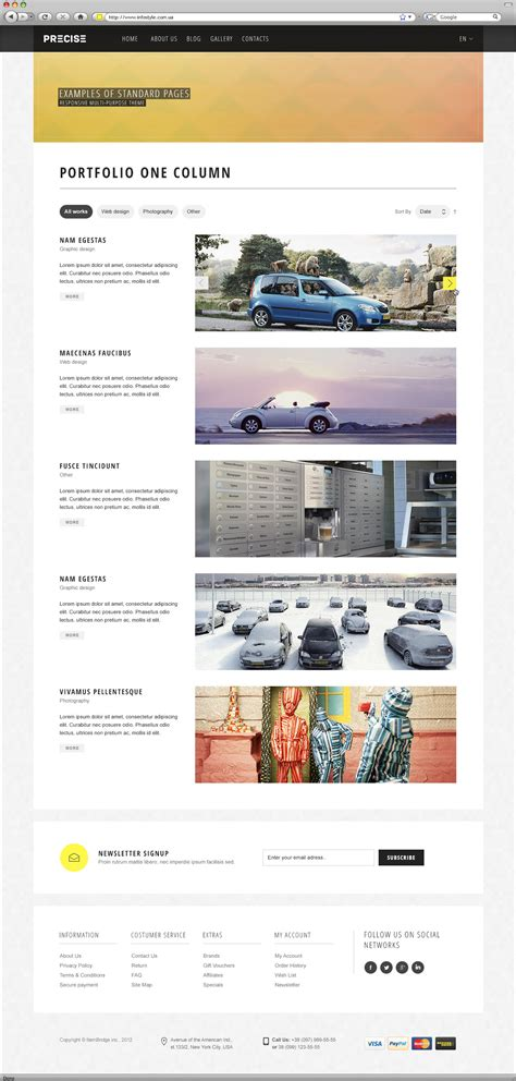 Theme Forest List | precise multipurpose responsive wordpress theme by