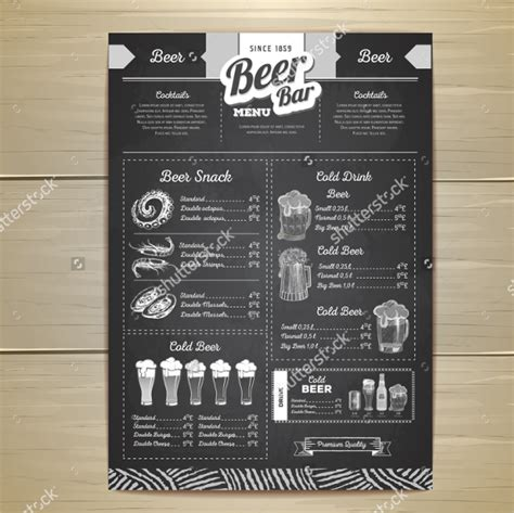 14 pub menu template free psd ai eps format download